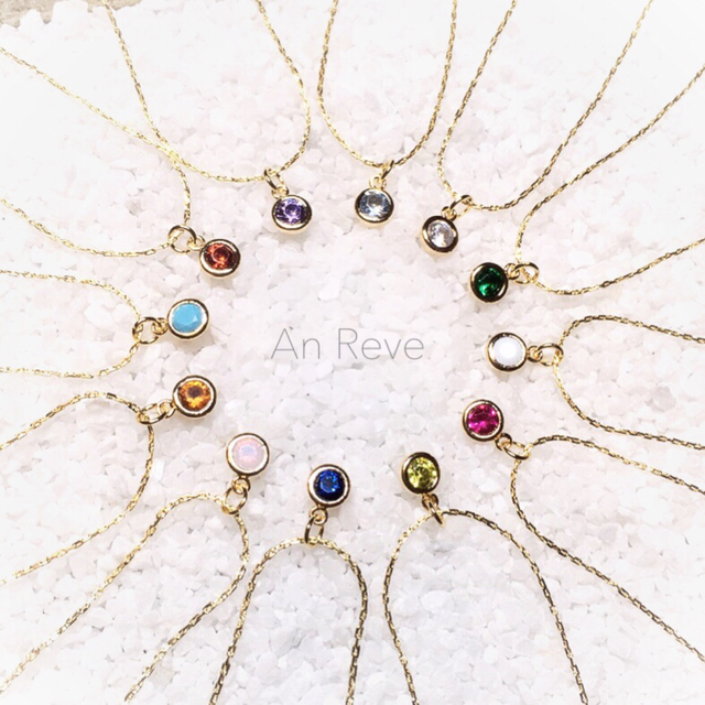 高品質 K16GP  ◇ birthday stone neckl...