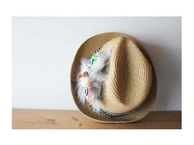 <Sale>cat hat*gray