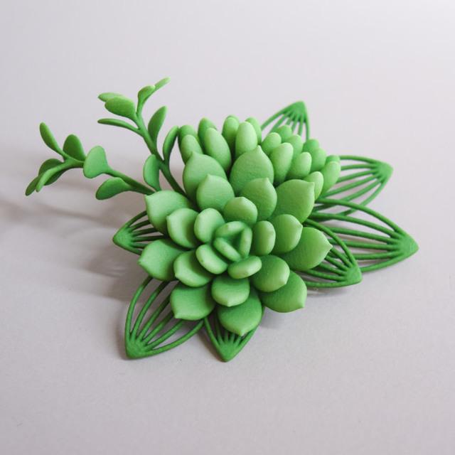 セダム ブローチ 緑