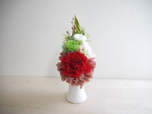 偲ぶお花・真っ赤なカーネーション