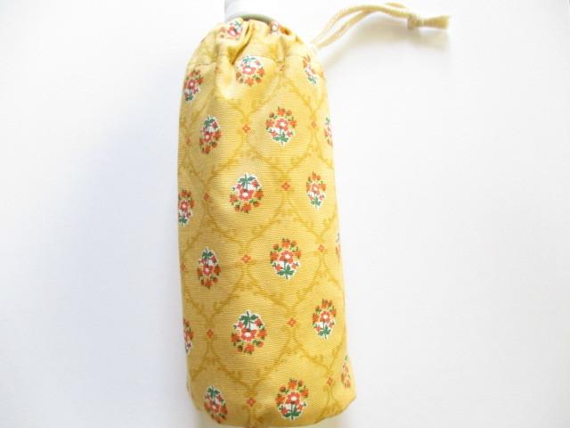 ペットボトルケース(花柄・黄色)