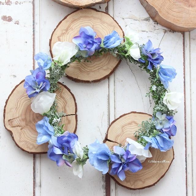 花冠スイトピー(ブルー)と紫陽花(18.BLU...