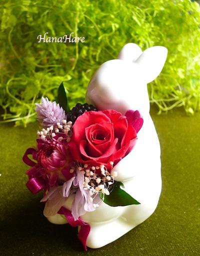 お花をかかえた うさぎ part2