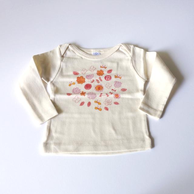 【受注生産】 お花畑 ベビーTシャツ (...