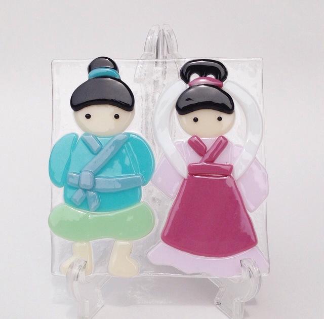 『織姫と彦星』のガラスプレート