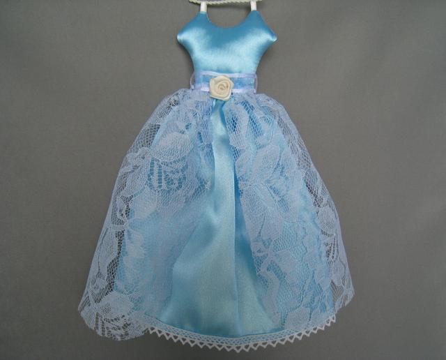 ドレス型サシェ(Blue Satin)