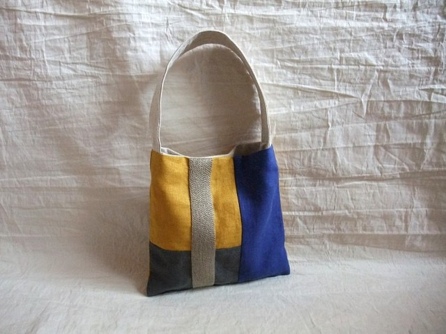 itoiro mini bag (blue mustard)