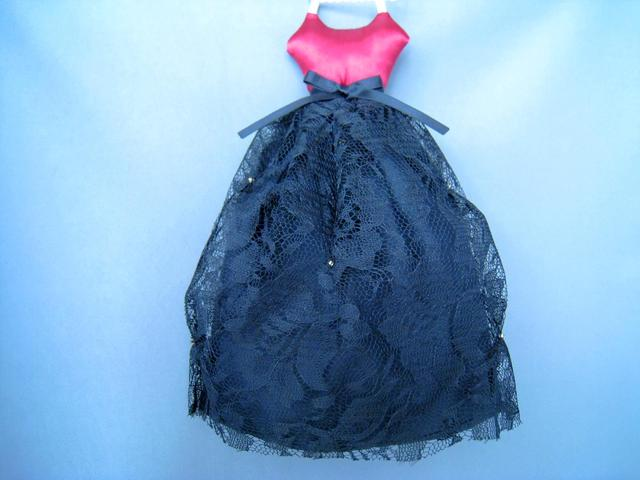 ドレス型サシェ(Black lace)