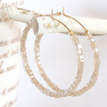 14KGF Glass Hoops / BE