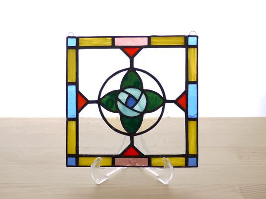ステンドグラスパネル フラワー Mサイズ