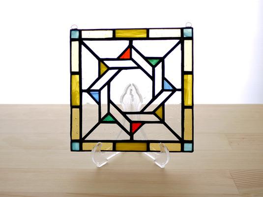 ステンドグラスパネル ジオメトリック Mサイズ