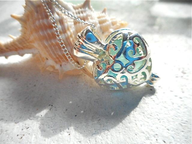 ☆再販☆ Beach glass in heart (silver)