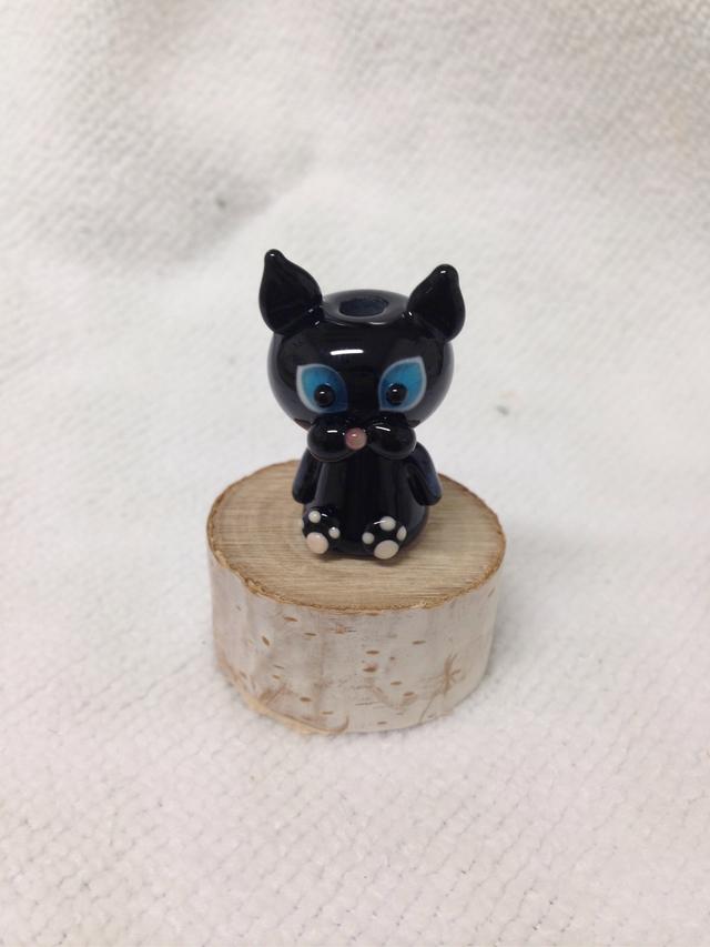黒猫ちゃんのとんぼ玉