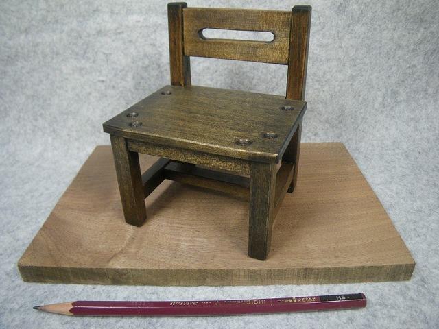 品番1704ミニ椅子ブラック