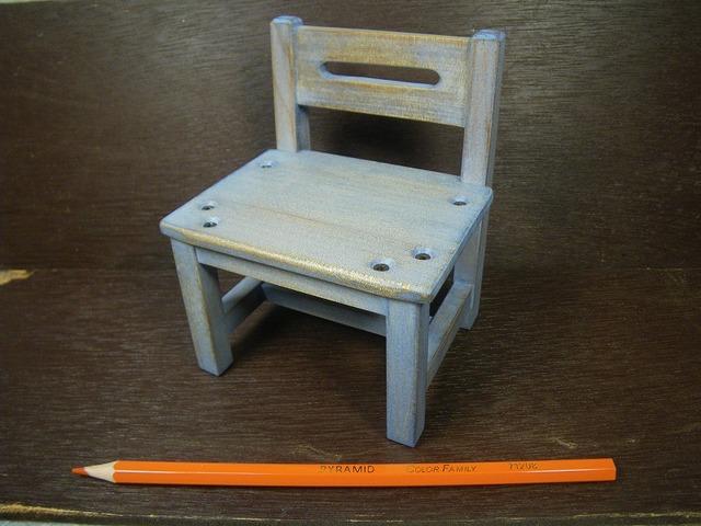品番1706ミニ椅子ブルー