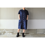 HALF SLEEVE SHIRTS ONE-PIECE NAVY【SIZE:M/L】