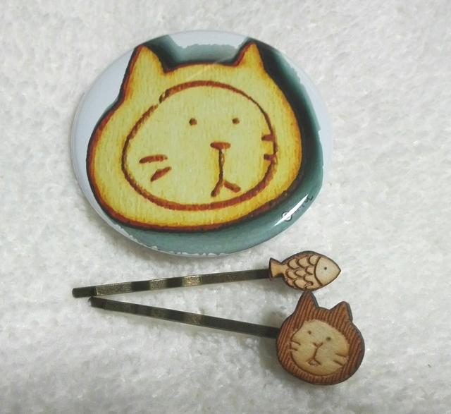 ねこ力up☆   ポケットミラー&木製ヘア...