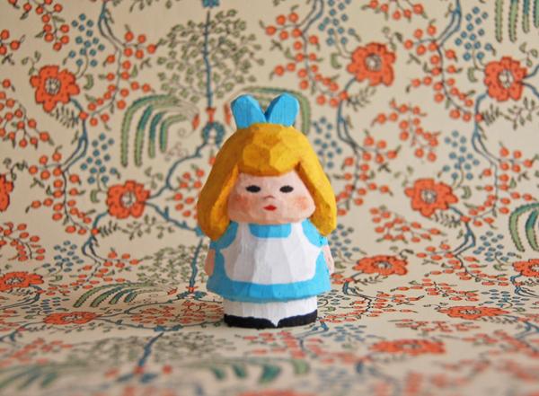 木彫り人形 不思議の国のアリス1 4セ...