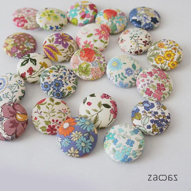 くるみボタンのヘアゴム22個*花柄アソート