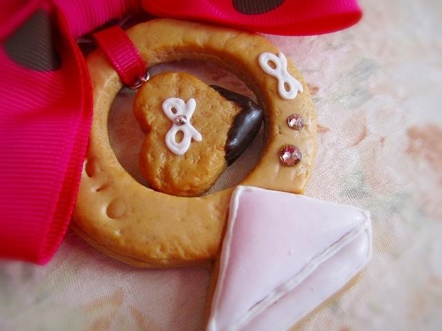 ダイヤモンドリングクッキー☆バッグチャーム
