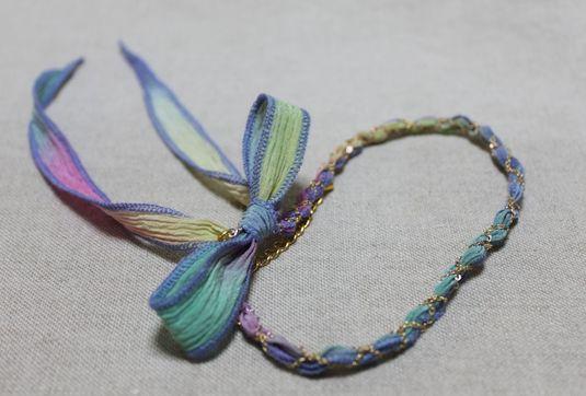 シルクリボン3wayアクセサリー Color:オーロラミックス