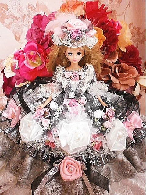 e5a8f6c2d677e SOLD ジェニー グレース王妃 フラワー フリル ドレス パール 着せ替え ウエディング