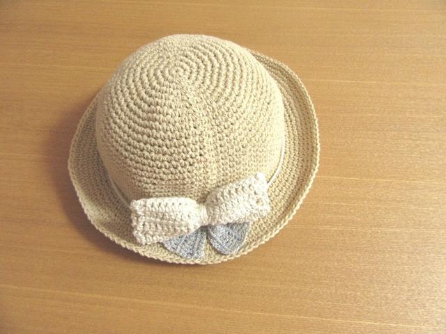 大きなリボンの帽子 45〜50cm