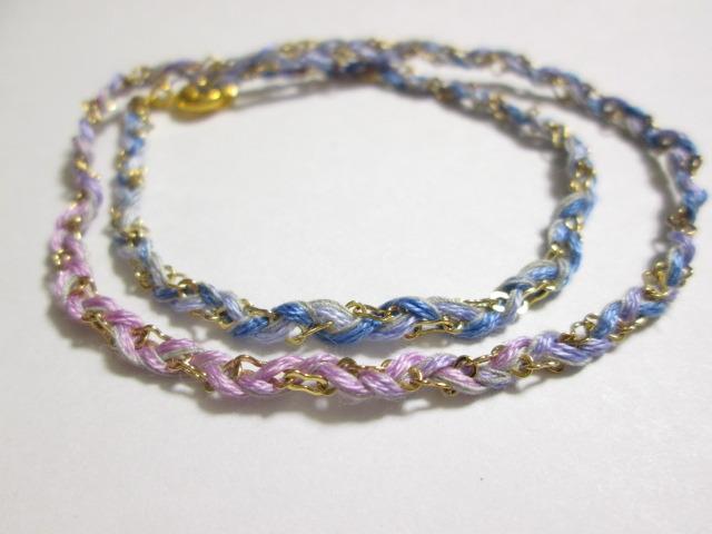 《送料無料》 静電気除去ブレスレット 薄紫〜青紫