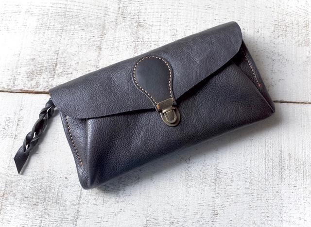 【受注製作(納期約1ヶ月)】長財布 「series-envelope」レイニーナイト