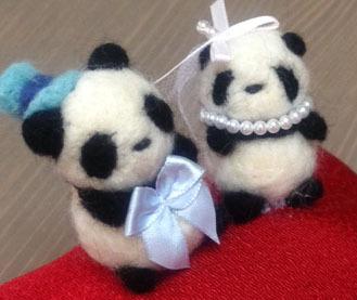 パンダのリングピロー