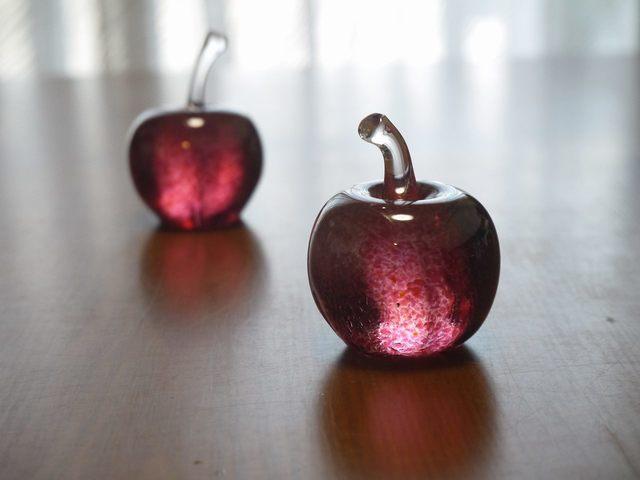 ガラスのリンゴ Mini ペア