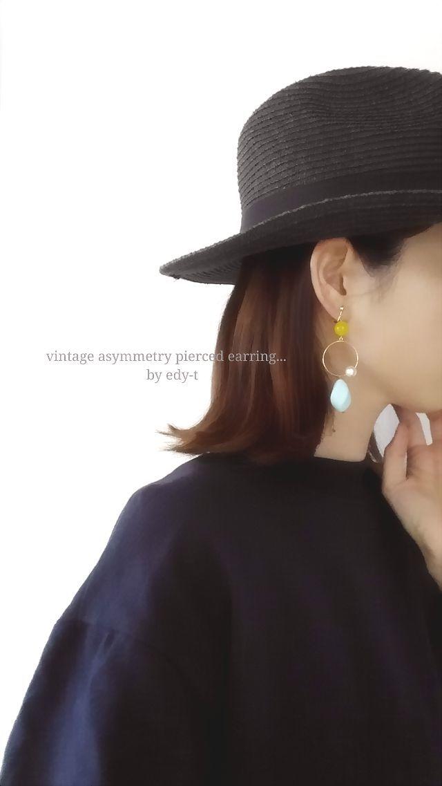 アシンメトリー☆twist oval vintage pi...