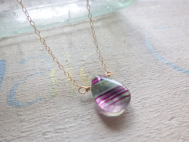 Bicolor Fluorite Necklace *14kgf*