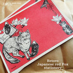 Retoro Japanese red Fox stationery