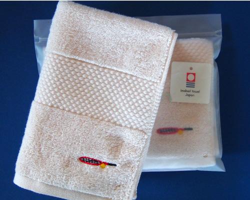テニスラケット刺繍のハンドタオル(薄...
