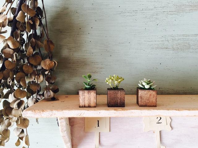 ◎更に小さな植木鉢 茶 3個セット