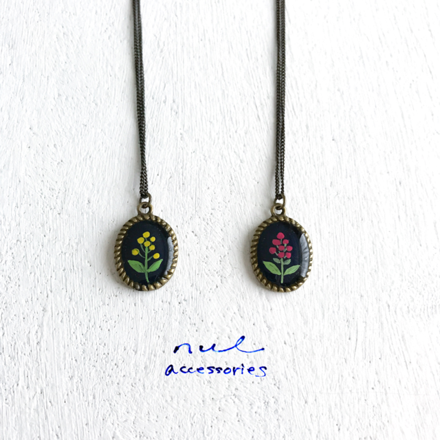 flowers neckless [red]