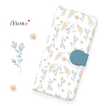 花 white-floral* 花柄 手帳型 スマホケース iPhone11 XR XS Max XS X 8 8Plus 7 7Plus SE Xperia Galaxy ARROWS 多様機種対
