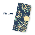 手帳型 flower*  花柄 スマホケース iPhoneXR 11 XS X 8 8Plus 7 7Plus SE Xperia Galaxy ARROWS 多様機種対応