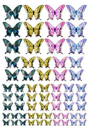 レジン封入用シート : Butterfly=2=