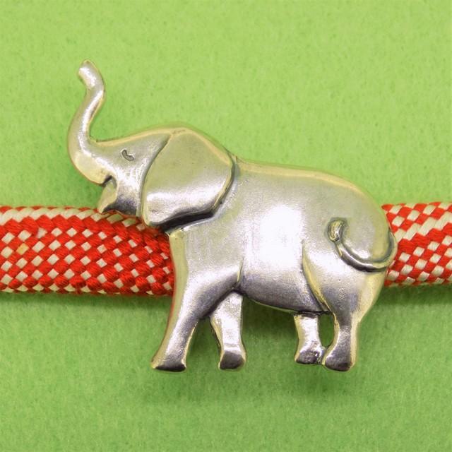 銀細工帯留 子象