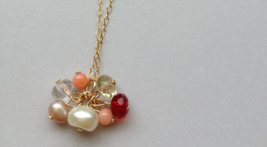 14kgf Who is the loveliest? necklace