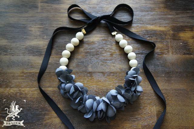 再販 necklace【 布花ネックレス hydran...