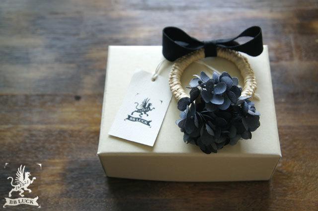 hair tie【 布花ヘアゴム hydrangea * ...