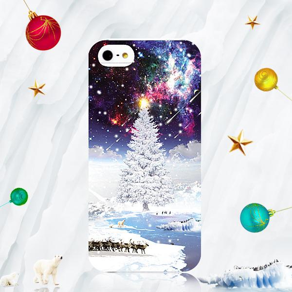 宇宙のクリスマス☆プリントスマホケース:iPhone7★iPhone各種選択可能♪iPhoneケース スマホケース