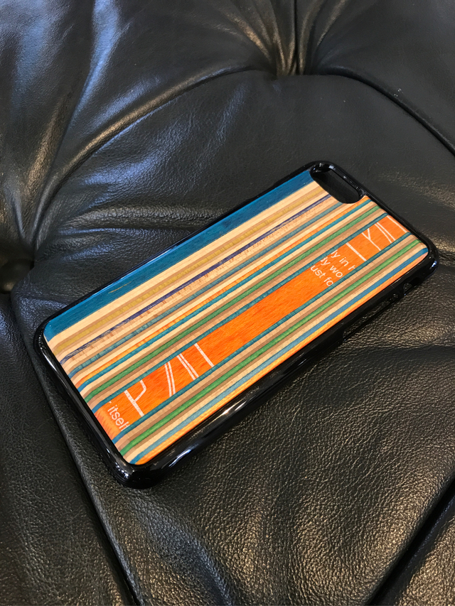 skate wood iPhoneケース