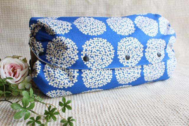 青と紫陽花*抱っこひも収納カバー