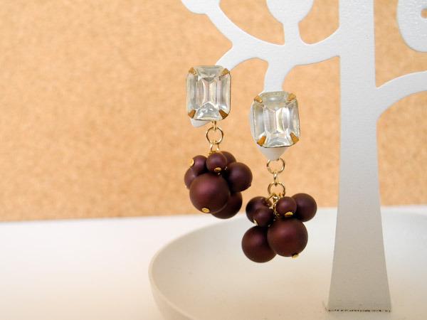 ピアス Autumn Grapes