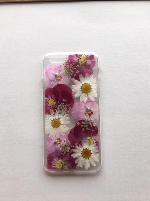 iphone6/6s用 キュートな押し花スマホケ...