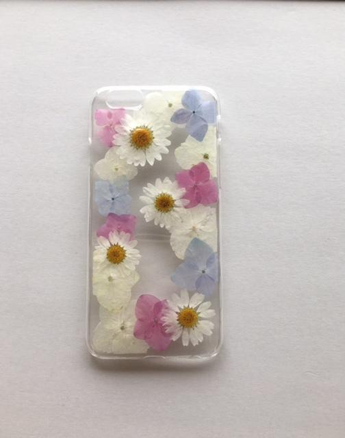 iphone6/6s用 あじさいの押し花スマホケ...
